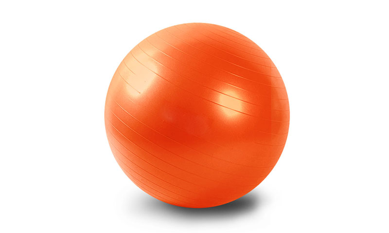 orange anti-burst PVC yoga ball