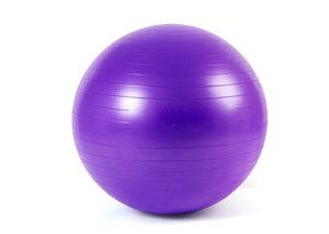 purple anti-burst PVC yoga ball