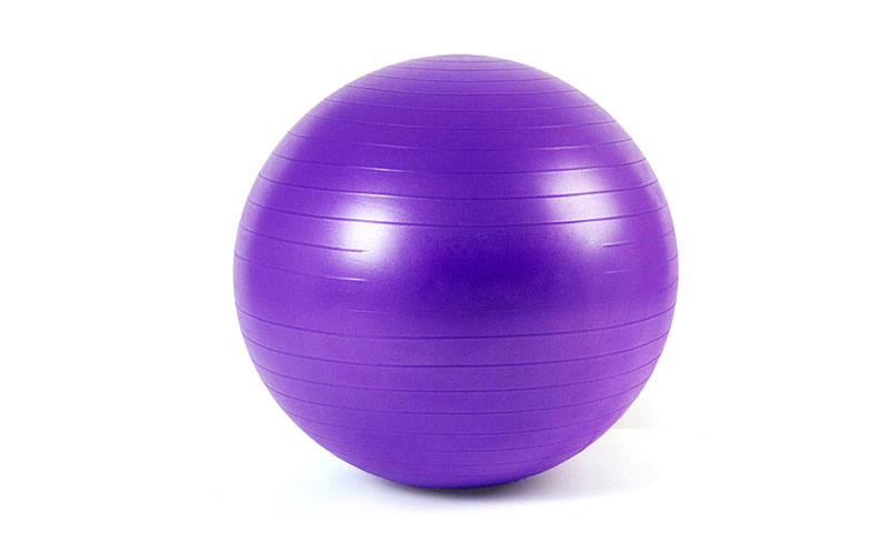 purple anti-burst PVC yoga ball