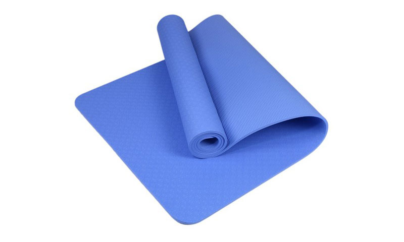 blue TPE yoga mat