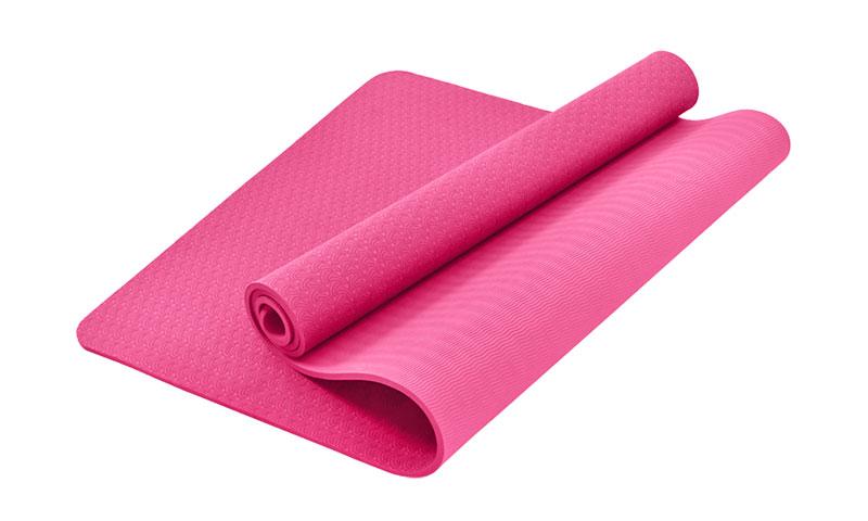 latex free pink TPE yoga mat