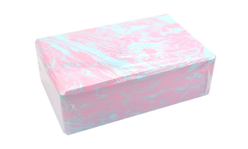 pink camouflage yoga block