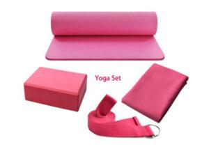 pink yoga products set