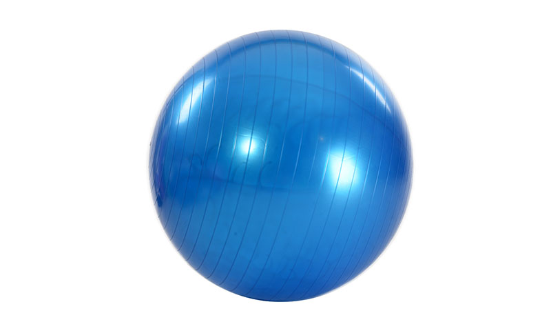 blue smooth PVC yoga ball