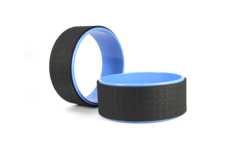 blue yoga wheel
