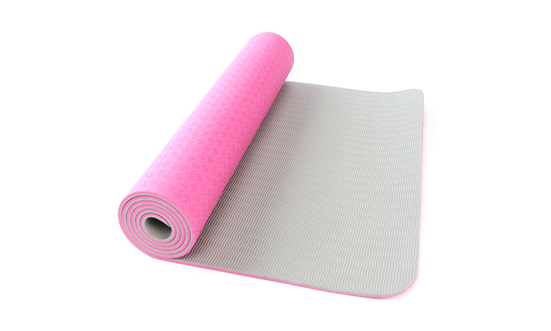 pink double layer TPE yoga mat
