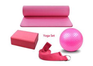 pink yoga kit