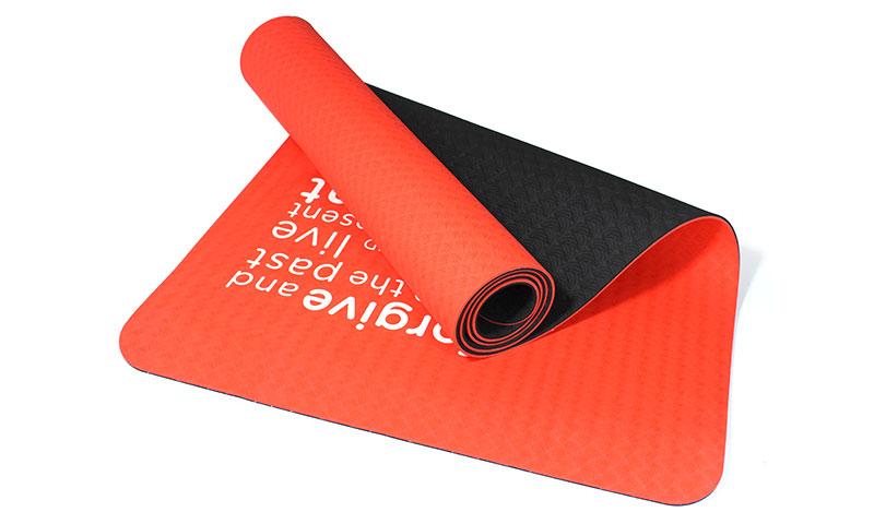 printed letters TPE yoga mat