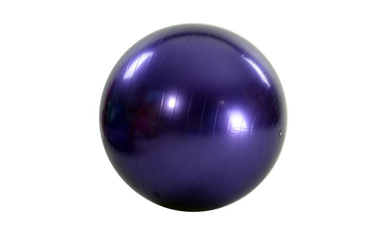 purple smooth PVC yoga ball