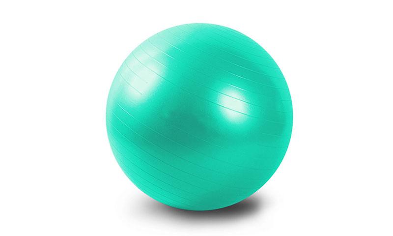 green PVC scrub yoga ball