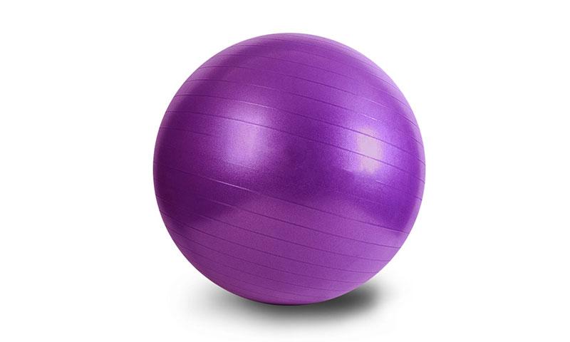 purple PVC scrub yoga ball