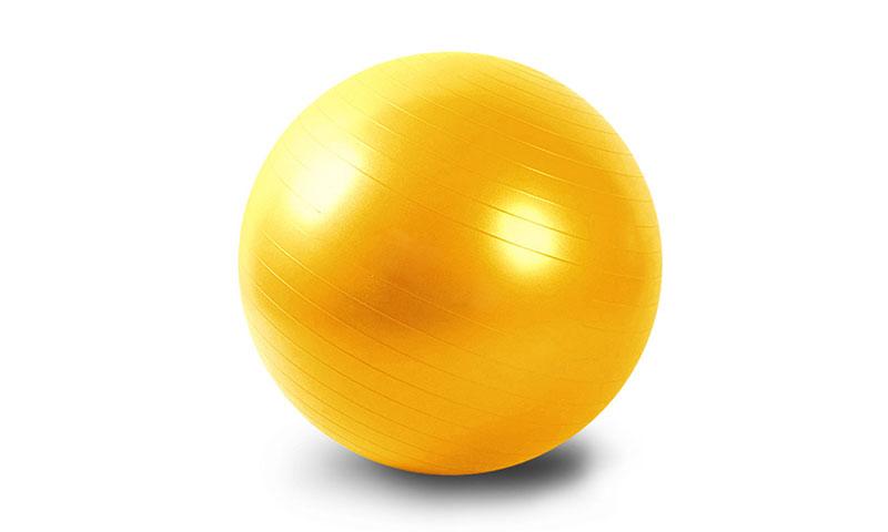 yellow PVC scrub yoga ball