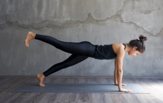 doing yoga alone