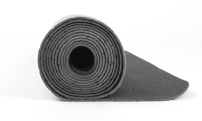natural rubber yoga mat with suede material