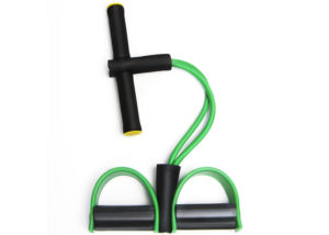 green foot elastic pull rope