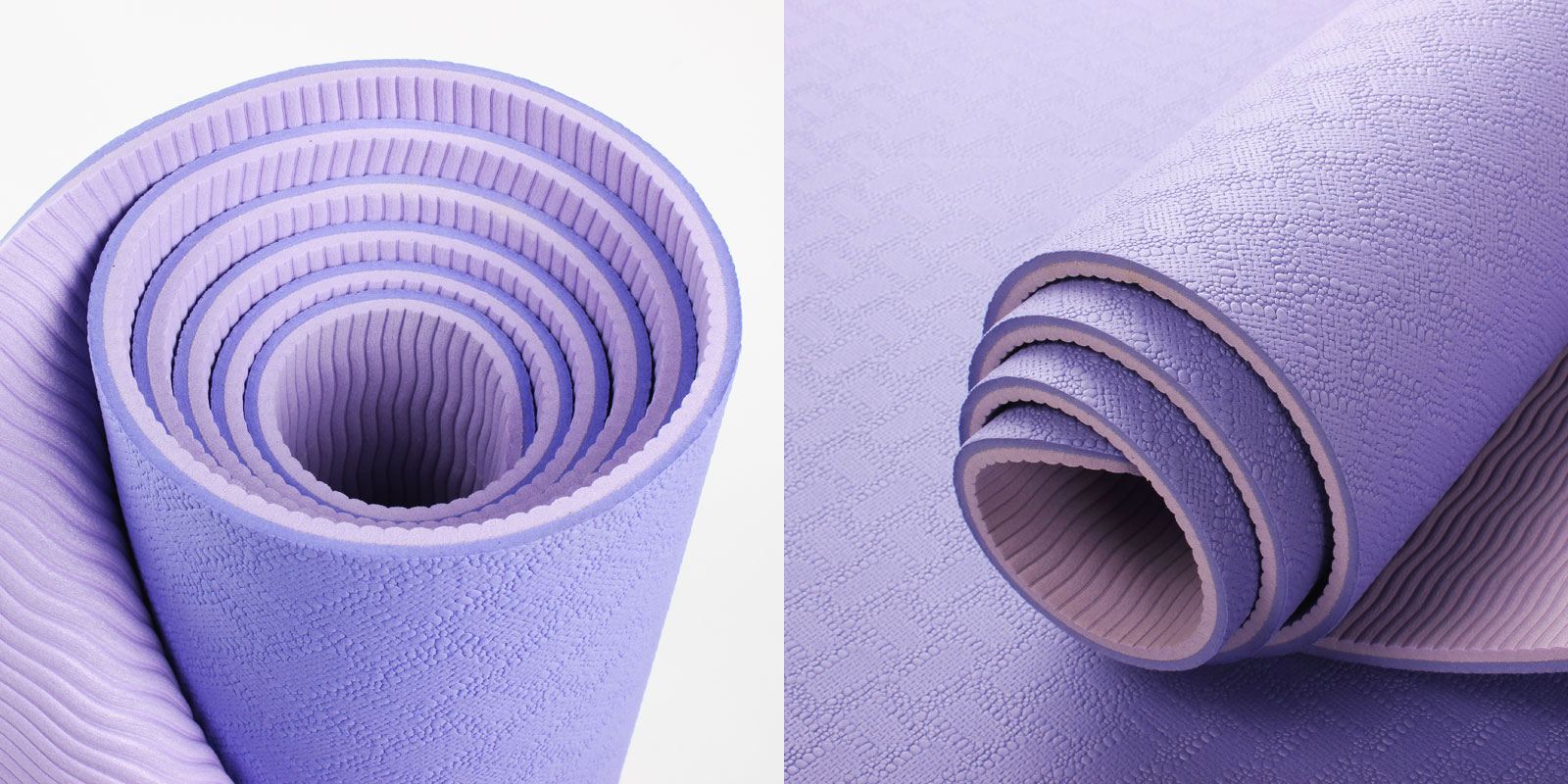 purple double layer TPE yoga mat