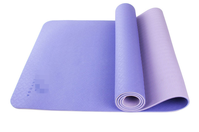 purple two layer TPE yoga mat