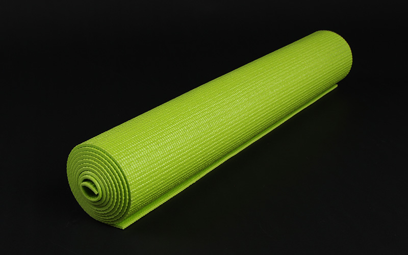 green flower pvc yoga mat