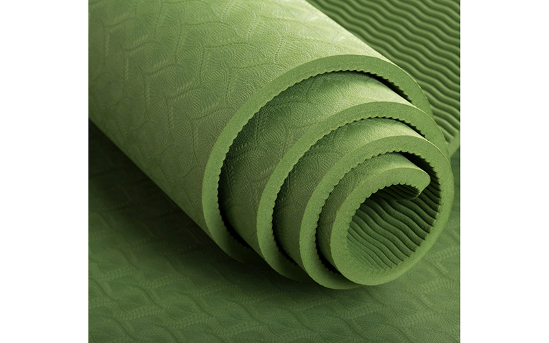 green tpe yoga mat