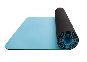 blue pu yoga mat