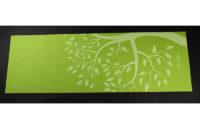 green flower pvc yoga mat